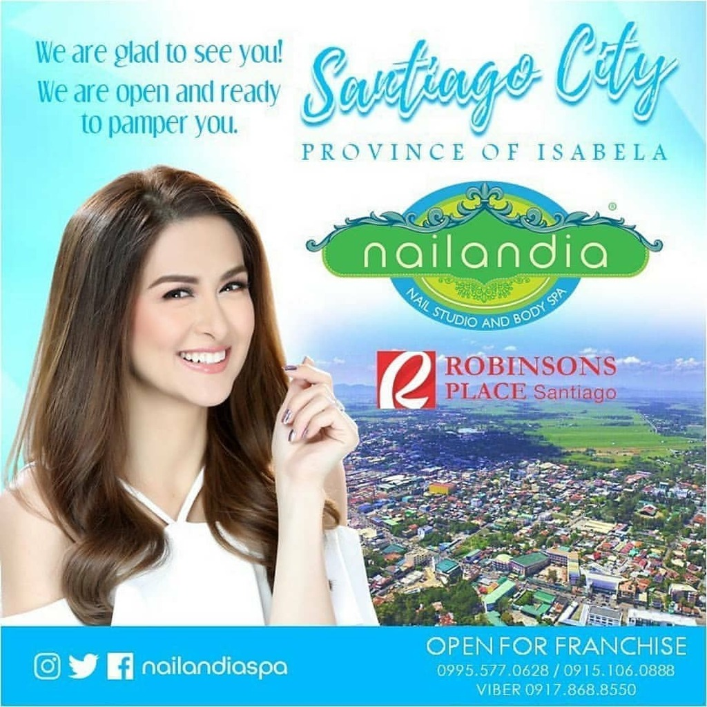 marianupdates: We are happy and excited to give you the best nail spa experience in Santiago City, Isabela! #ResponsibleReopening #nailandia  Open for Franchise! Very low franchise fee! Please call or text: 0915 106 0888 0995 577 0628 (02) 8282 4…pic.twitter.com/aeEuOs7qIU