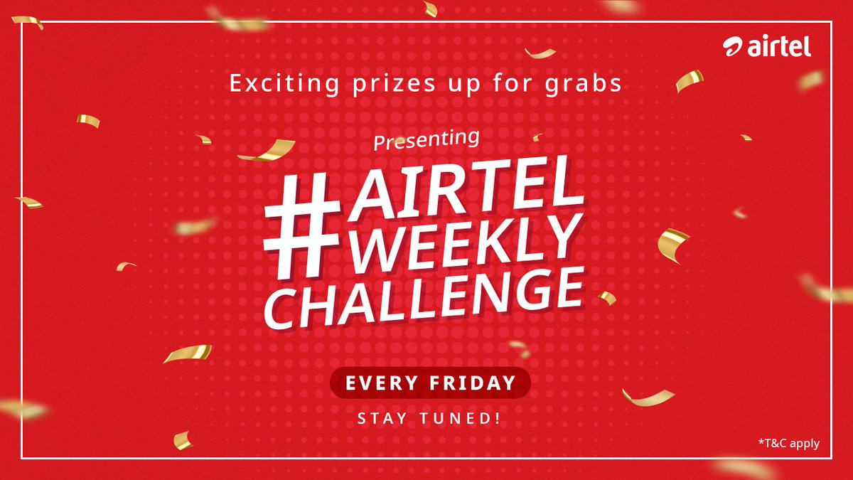 Wins < #AirtelWeeklyChallenge. Presenting #AirtelWeeklyChallenge. Participate in fun weekly contests and challenges for a chance to win exciting prizes. #ComingSoon <br>http://pic.twitter.com/WvcGt309d6