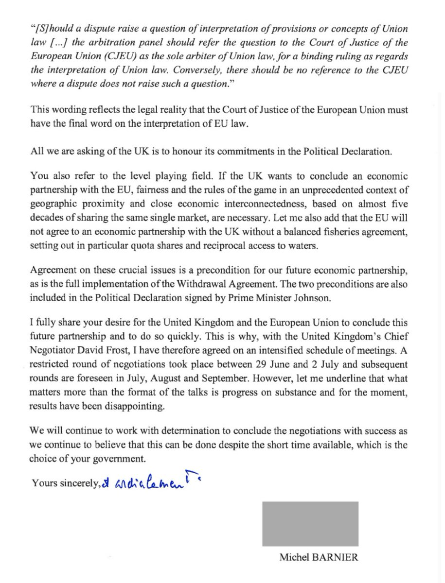 TL:DR  Dear Mr François,  Johnson agreed this and you voted for it. That's sovereignty. Bummer, huh?  Yours etc,  MB https://t.co/fO5ze3Zfpf