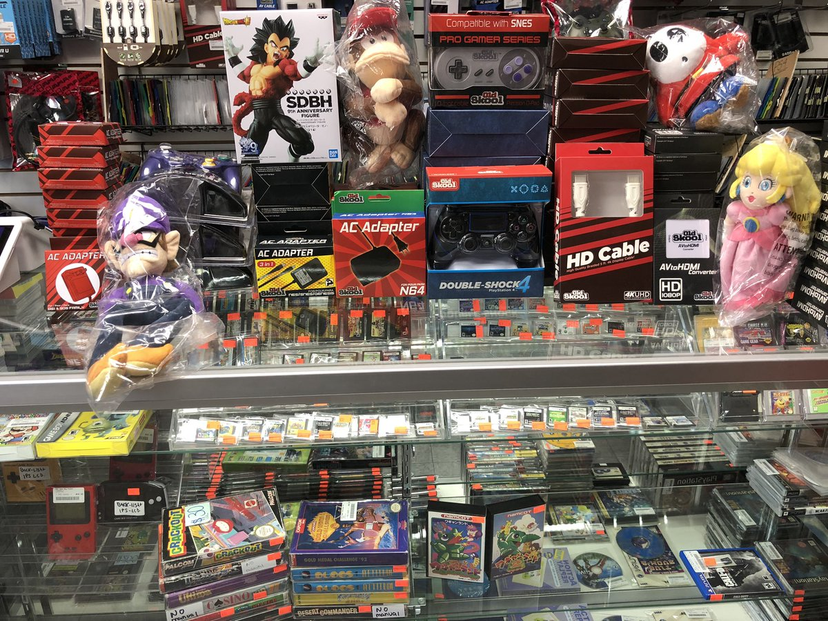 Small re-stock. #3dschargers #gamecubecontrollers #snes #nes #sega #n64 #acadapter #snes #ps4controller #hdmi #avtohdmiconverter #plushies #brooklynvideogamespic.twitter.com/kuysh0Mbew – at Brooklyn Video Games