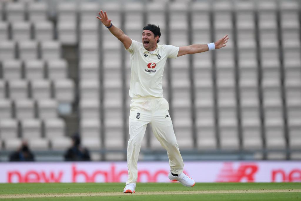 James Anderson has made the breakthrough!  John Campbell has been trapped leg-before, and West Indies are 43/1.  #ENGvWI https://t.co/023l37ZQ2q