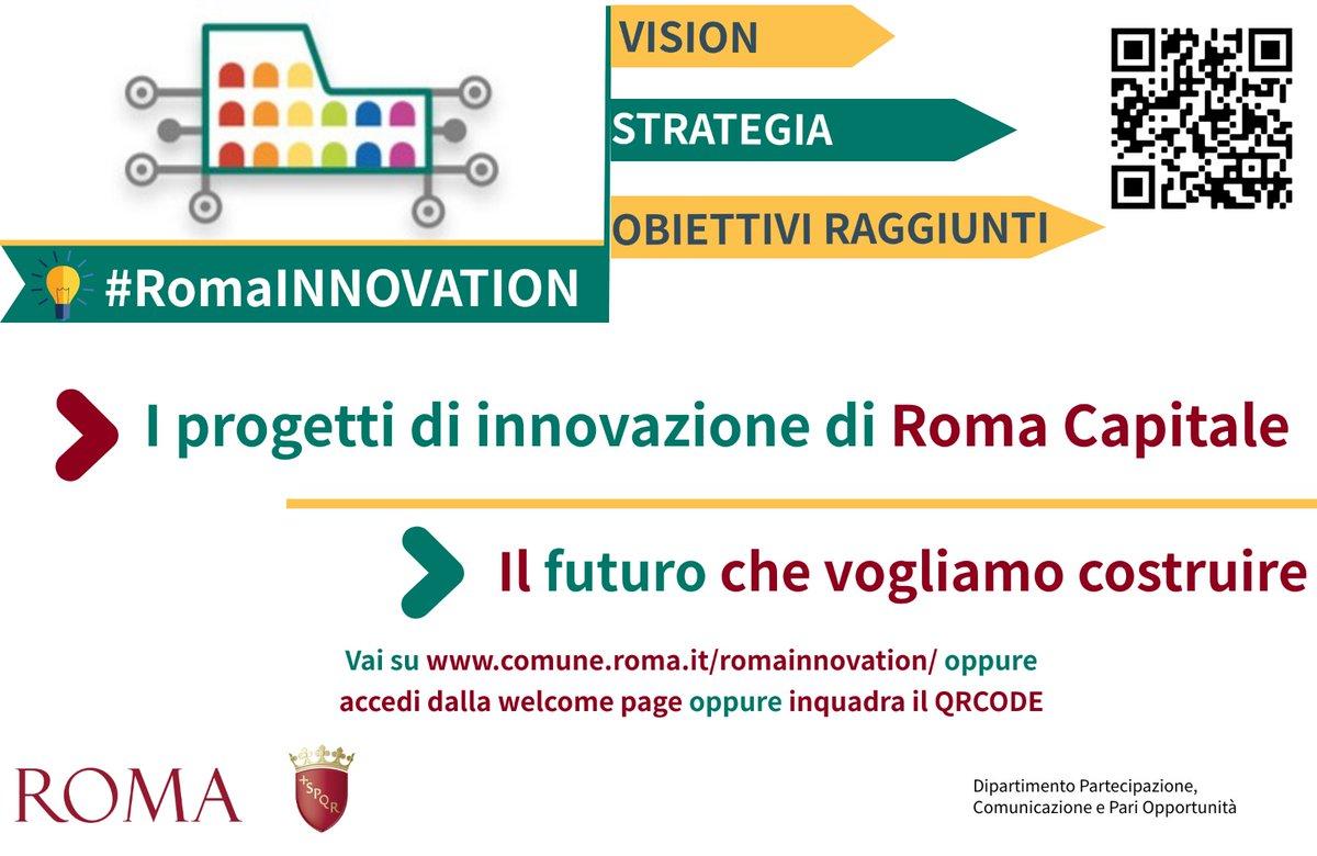 """È online il sito """"Roma Innovation"""", un nuovo spazio che rappresenta uno sguardo sui progetti di innovazione che abbiamo introdotto dall'inizio di questo mandato a Roma Capitale e che continueremo a perseguire con convinzione: bit.ly/2ZeqYtA"""