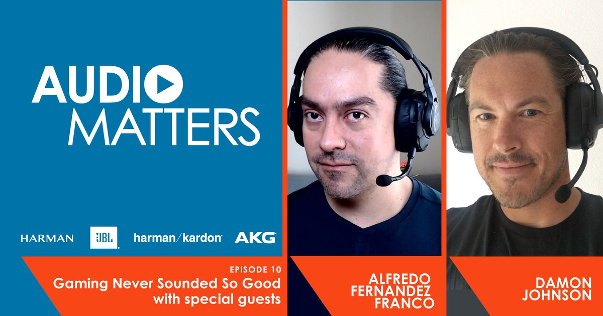 How does sound amplify the #gaming experience? Join host @oisinlunny as he hears from HARMAN immersive audio experts to learn about the latest science and technology behind @JBLaudio Quantum gaming headsets. audiomatters.podigee.io/10-gaming #audiomatters #harman #JBLQuantum