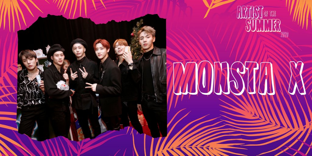 #MONSTAX (Unlimited voting) Tweet or Reply: I vote MONSTA X for #ArtistoftheSummer @965TDY! + every hour at 965TDY.com/AOTS