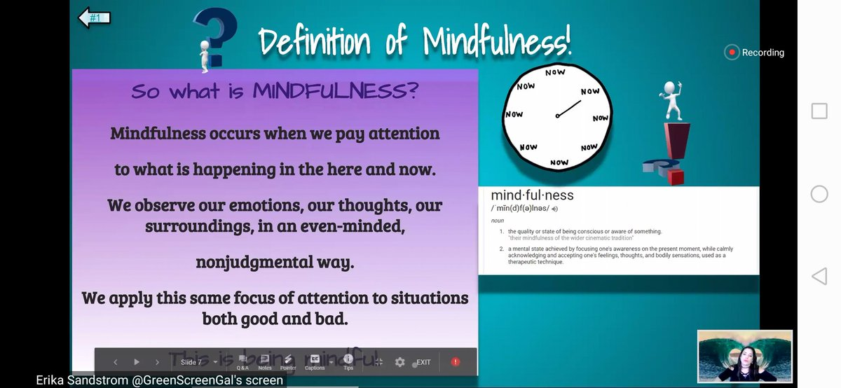 Here is the quick recap on mindfulness living in the present, not the past. No judgemental pic.twitter.com/QrZpmIBls1