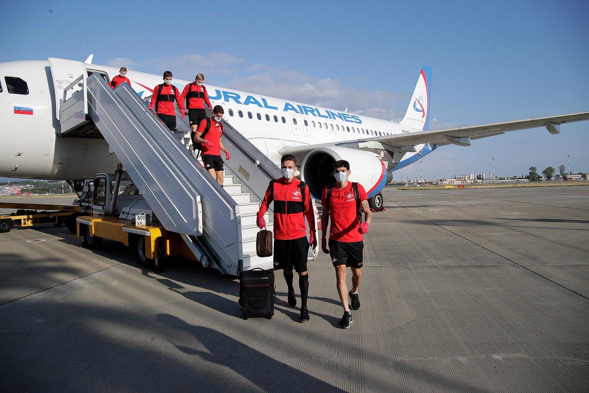«Спартак» прибыл в Сочи