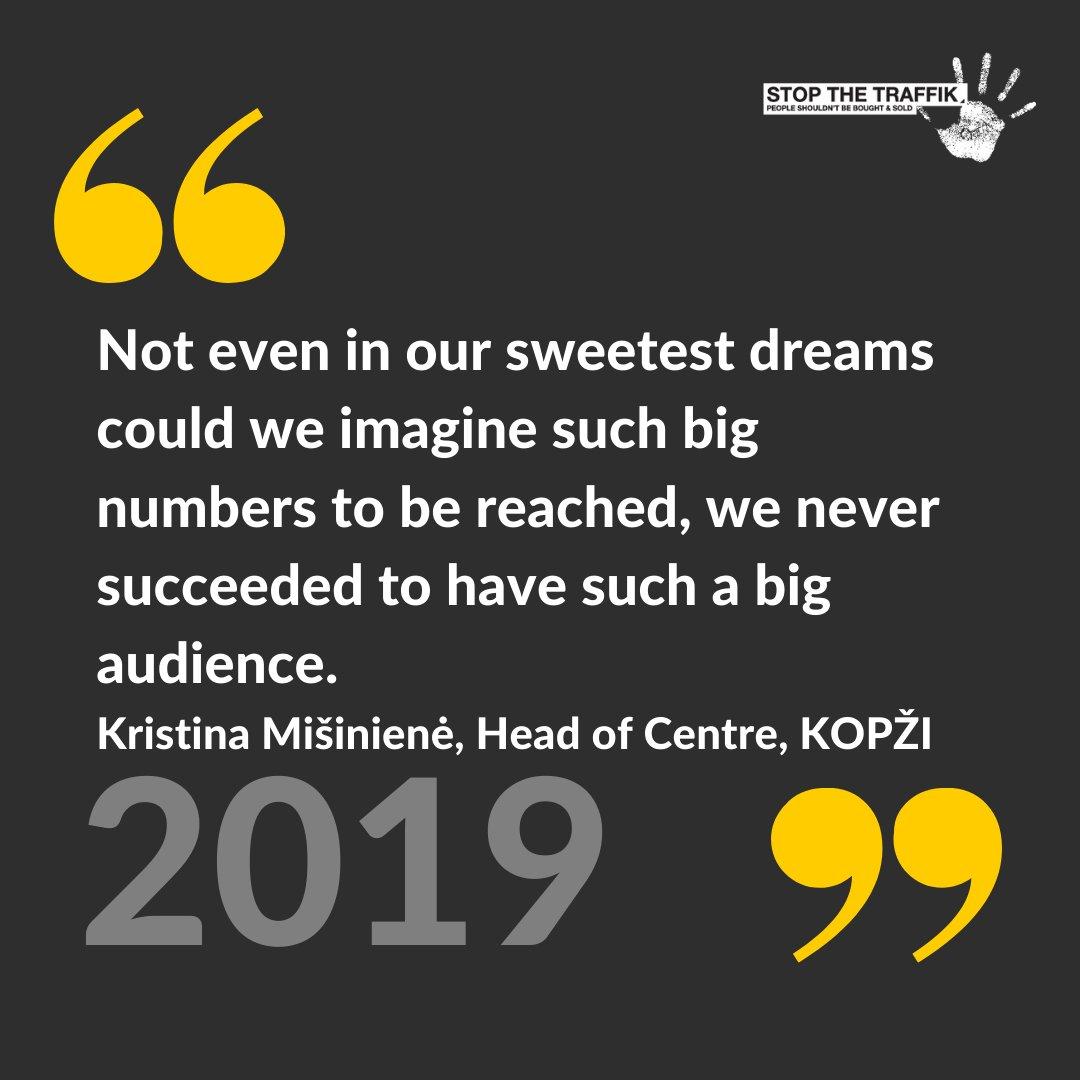 In 2019, our intelligence-led awareness campaigns had reached 7.3 million people. Our model works - and were not finished yet. More about our journey here: buff.ly/3iF1kpy