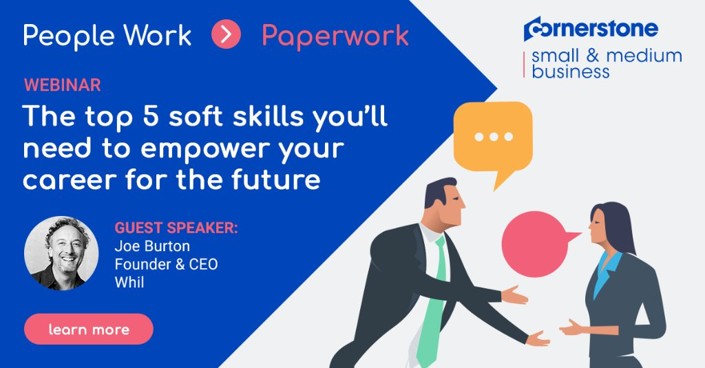 How can today's workforce prepare for an unknown future of work? It's all about soft skills. Join us and @WeAreWhil for a webinar on 7/14 to learn the top 5 soft skills you'll need to empower your career for the future. #futureofwork #softskills https://t.co/TSe4hRCgkI https://t.co/R3tpq1pNXn