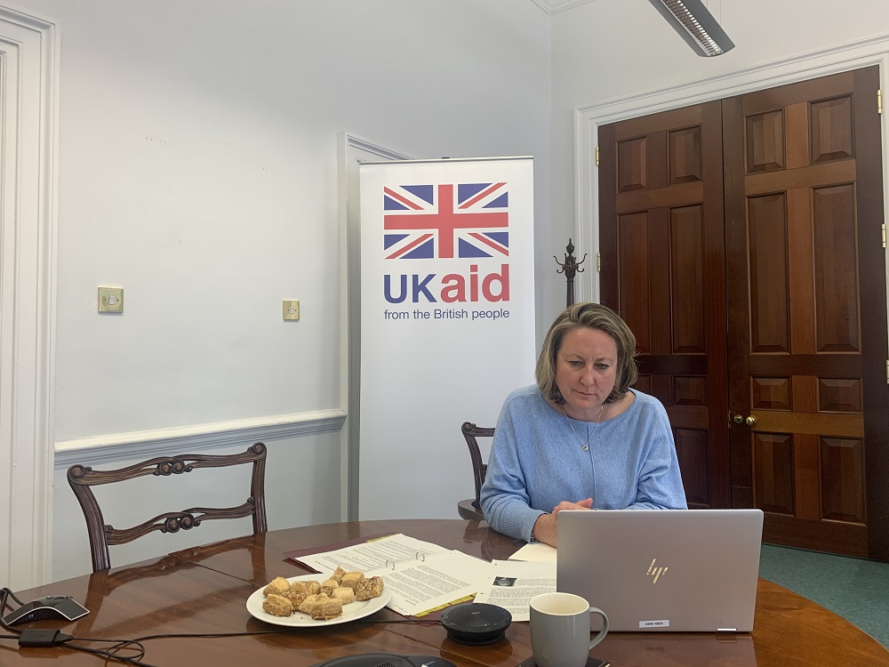 Today, International Development Secretary @annietrev took a virtual tour of Iraq to see how #UKaid is helping the country tackle #coronavirus and address the impacts to the economy. https://t.co/AywopYjuxe
