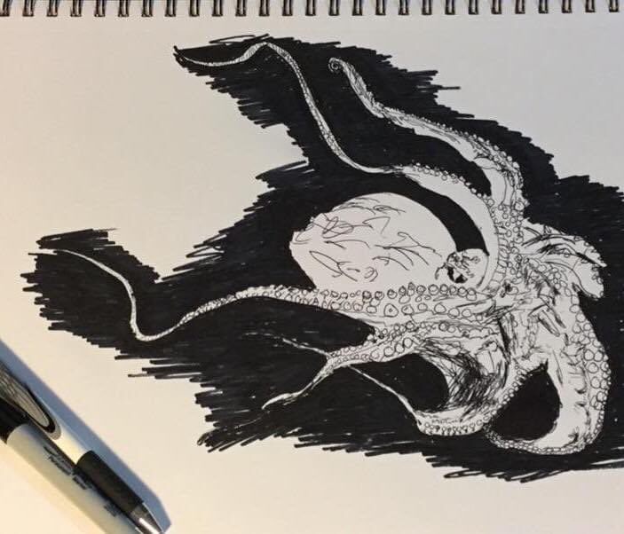 One of my #Inktober drawings I did 4 years ago. pic.twitter.com/evyr4MFeXW