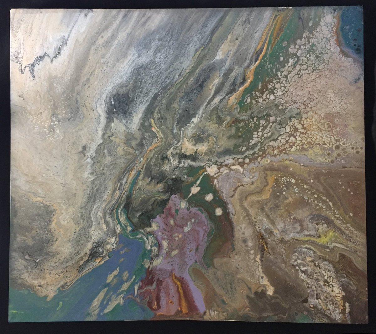 "051220-01 Acrylic on canvas 48"" x 48""(122 cm)  May 2020 #gesturalabstraction #informalism #tachisme #gutai #kunst #actionpainting #fineart #abstract #gallery #abstractexpressionism #acrylicpainting #art #interiordesign #creative #painting #fluidart #contemporaryart #modernart pic.twitter.com/LjoyKSZmXY"
