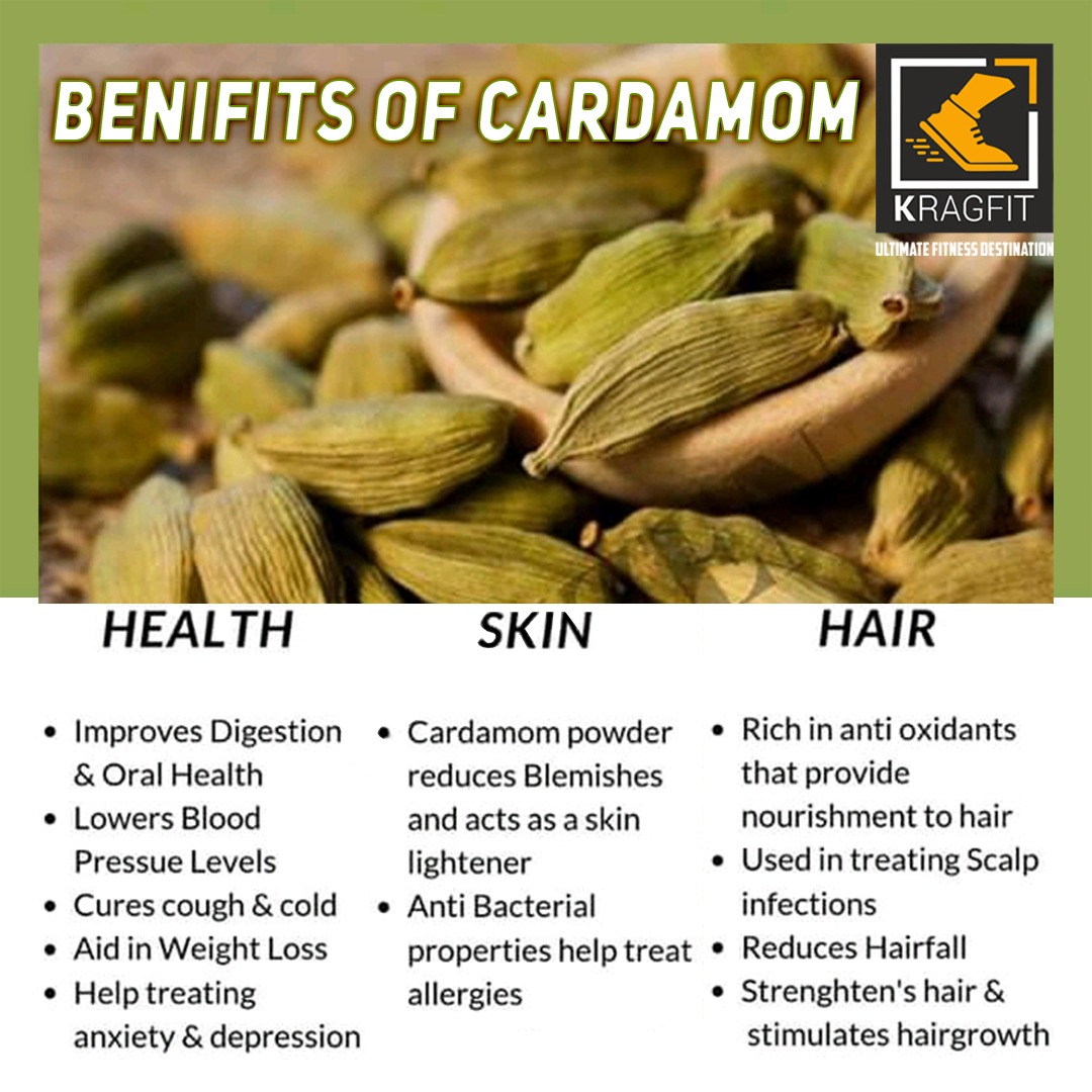 Cardamom is a spice that many people use in cooking and medicine. Here, we discuss the possible research-backed benefits of cardamom.  #fitnessmotivation #Kragfit #fitness #nutrition #yoga #Zumba #gymlife #workout #workoutmotivation #dietpic.twitter.com/zZbjSp6tUG