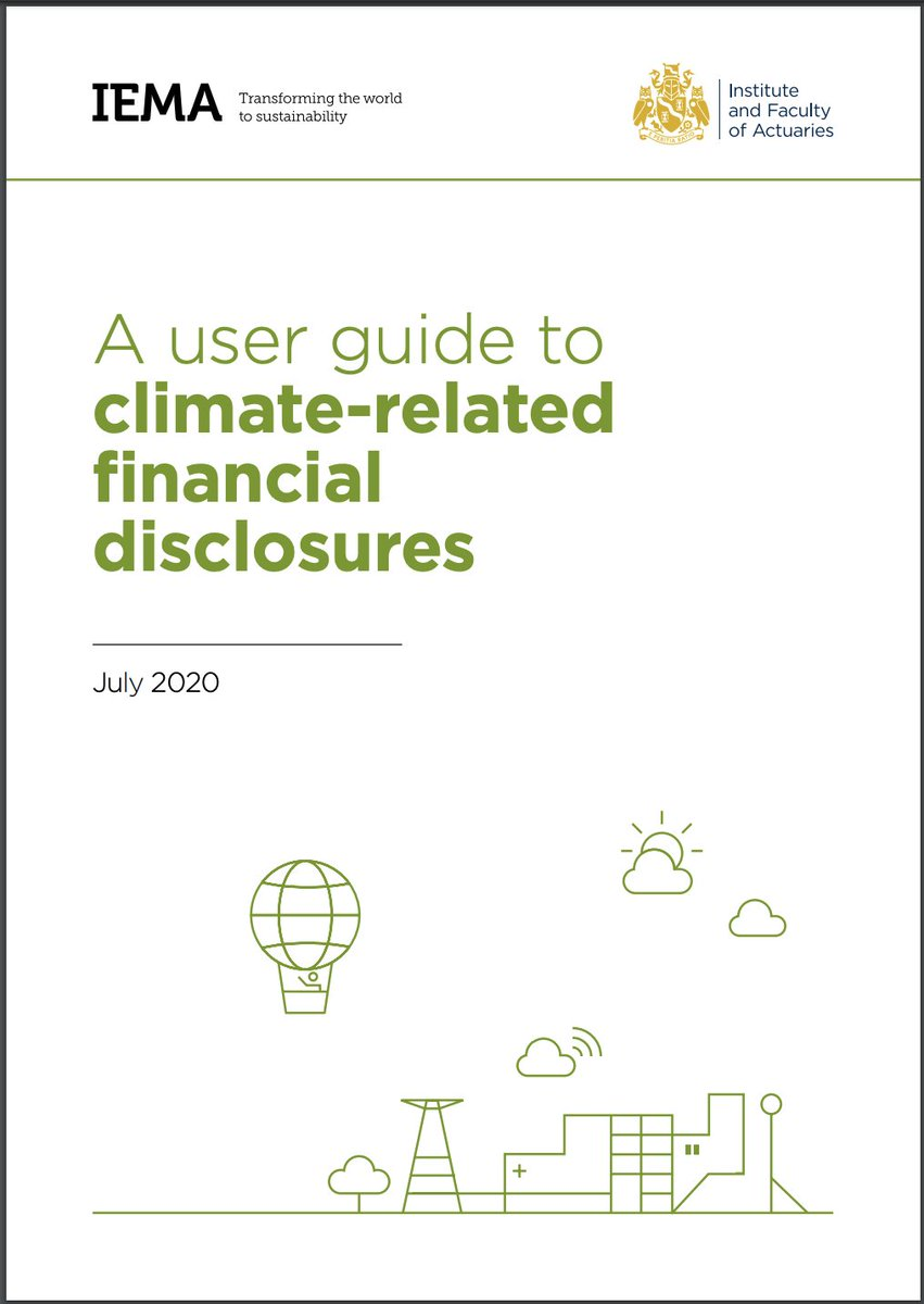We have partnered with @iemanet on a new guide around requirements from the task force on #climate related financial disclosures (#TCFD) to help professionals embed #sustainability at the core of the #economic system to #BuildBackBetter. Read more: https://t.co/ZsbKongjB7 https://t.co/x3IhGIqGXx