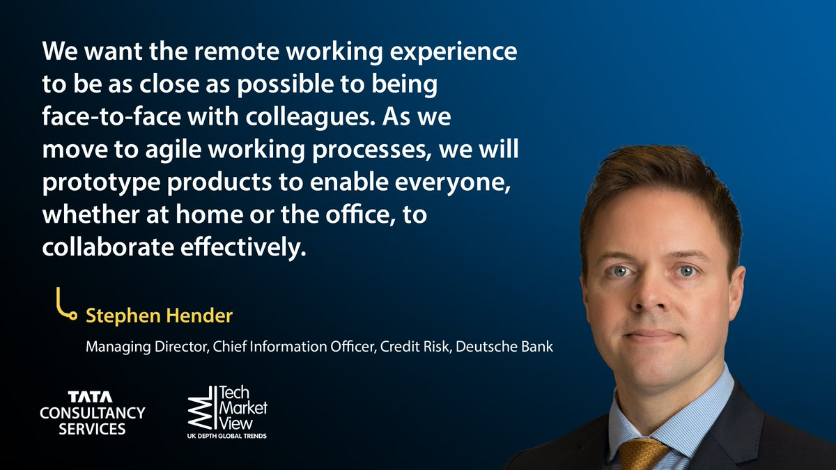 How can we achieve high levels of collaboration while working remotely?   Stephen Hender of @DeutscheBank explored this and more in our recent webinar with @TechMarketView: https://t.co/iqwHnJxy6X https://t.co/O1ptFi9kpc