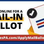 Image for the Tweet beginning: PA voters can now apply