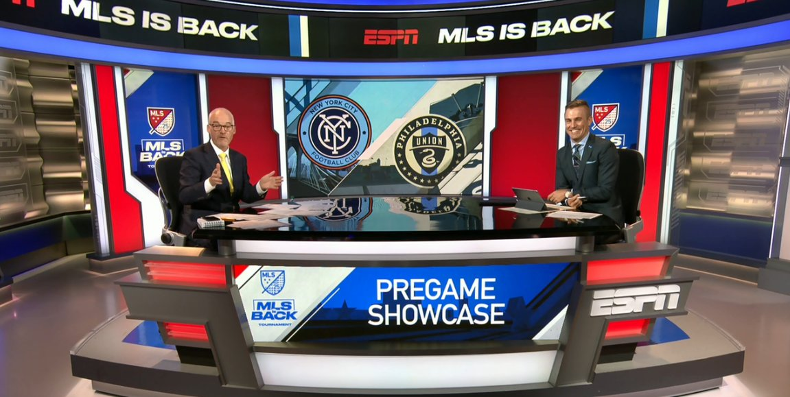 The #MLSisBack Tournament will feature a slew of 9a ET matches, and they will all air on ESPN. Less than 10 hrs after calling last nights opener, @JonChampionJC & @TaylorTwellman are ready to go now for #NYCFC v #DOOP