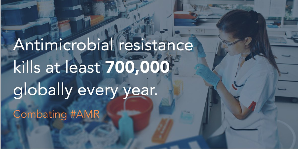 Society desperately needs new antibiotics but, right now, there is no viable market for them. We're joining others in backing a new $1 billion @AMRActionFund that aims to bring 2 to 4 new antibiotics to patients by 2030.  Press release: https://t.co/Pi30uZY3He https://t.co/yZVEZaechA