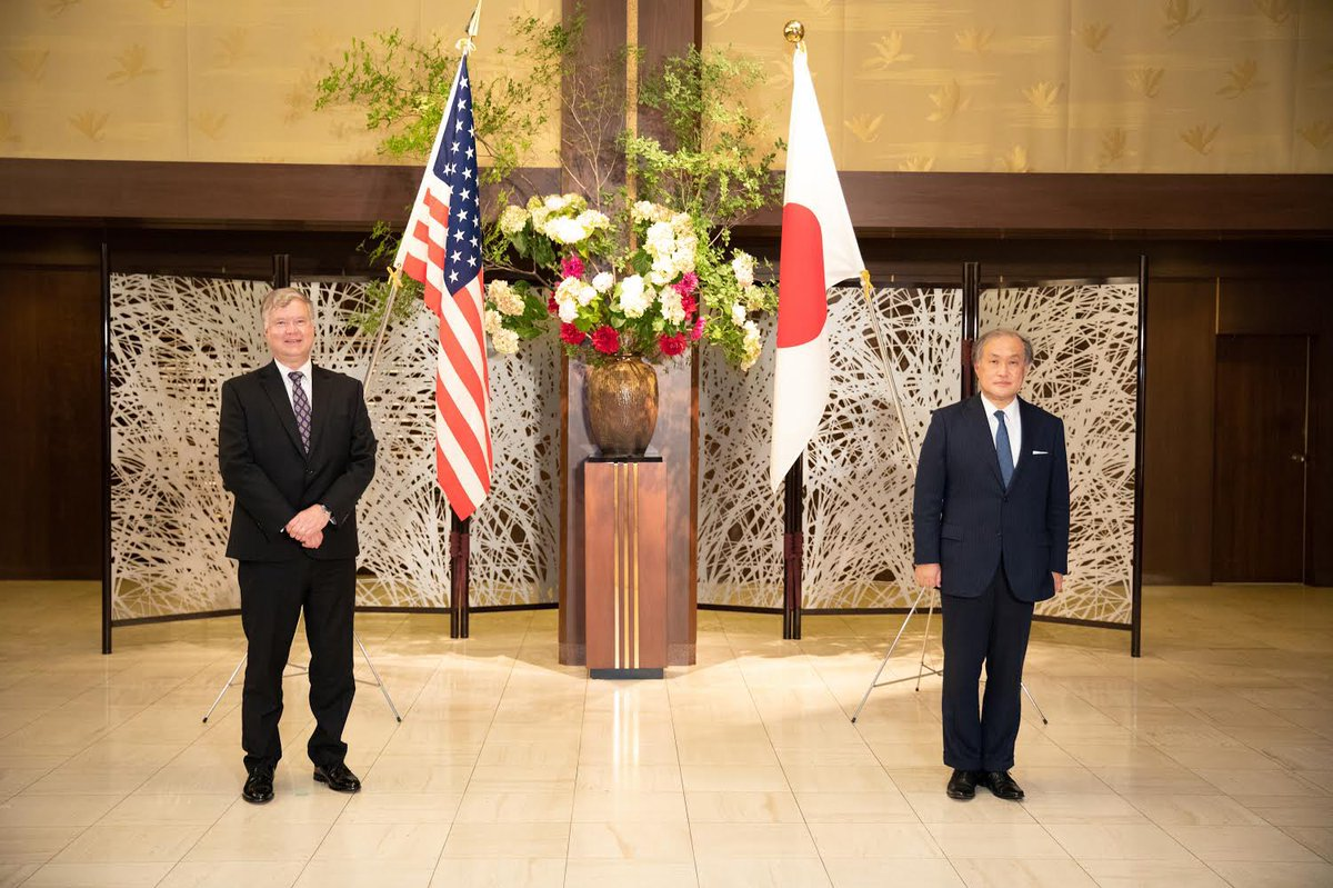 Deputy Secretary Biegun reaffirmed to Vice Foreign Minister Takeo Akiba our commitment to Japan's security, DPRK denuclearization, and allied cooperation to ensure a free and open Indo-Pacific. https://t.co/M7iGZJaWuH