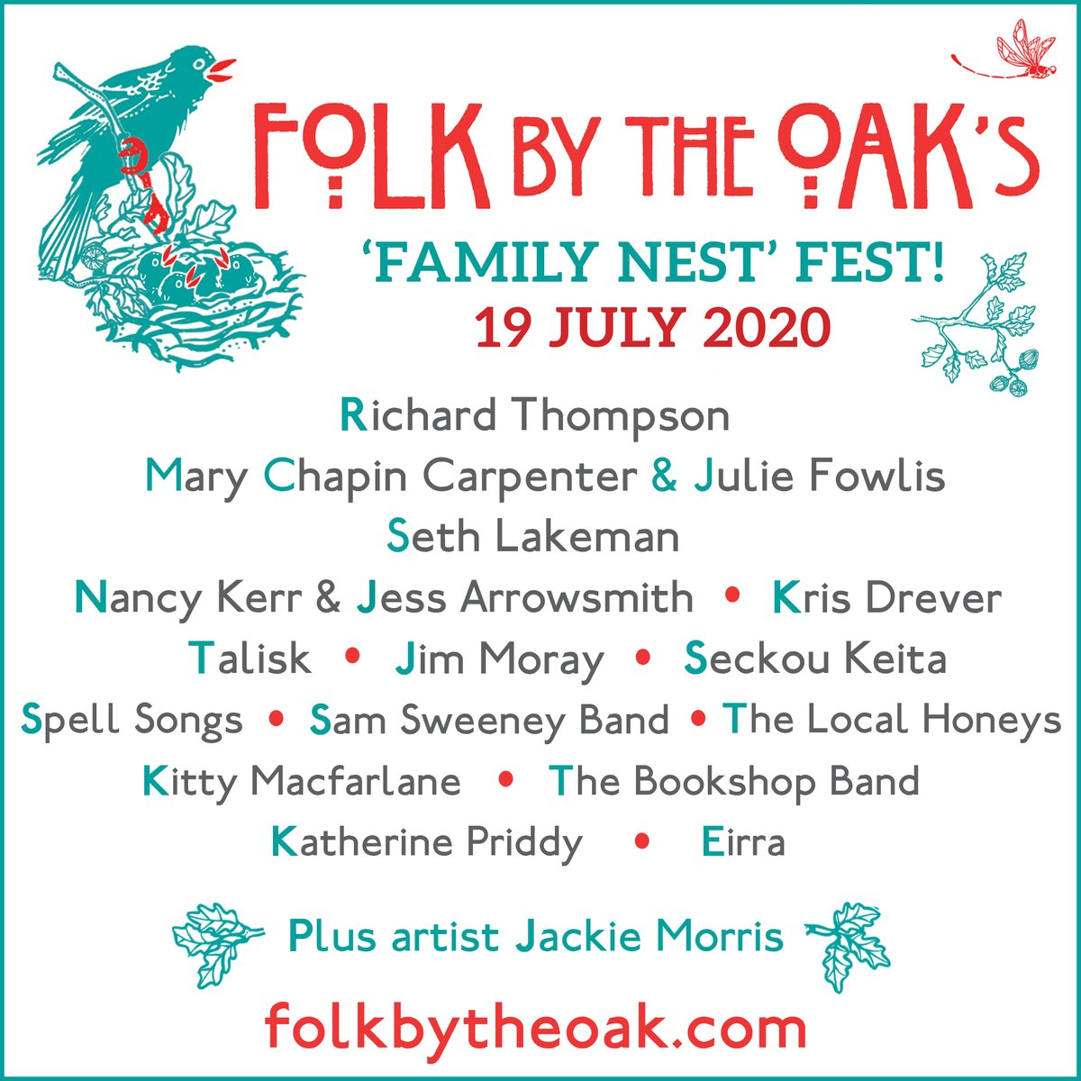 FULL LINE-UP! It gives us huge pleasure to announce @M_CCarpenter & @juliefowlis,+@SethLakemanNews to complete the 'line-up of headliners' for 'Family Nest' Fest - our virtual festival in aid of musicians & @Willow_Fdn on Sunday 19 July at 5pm. Donate now https://t.co/XhJXjdcebm https://t.co/OQeiODygX0
