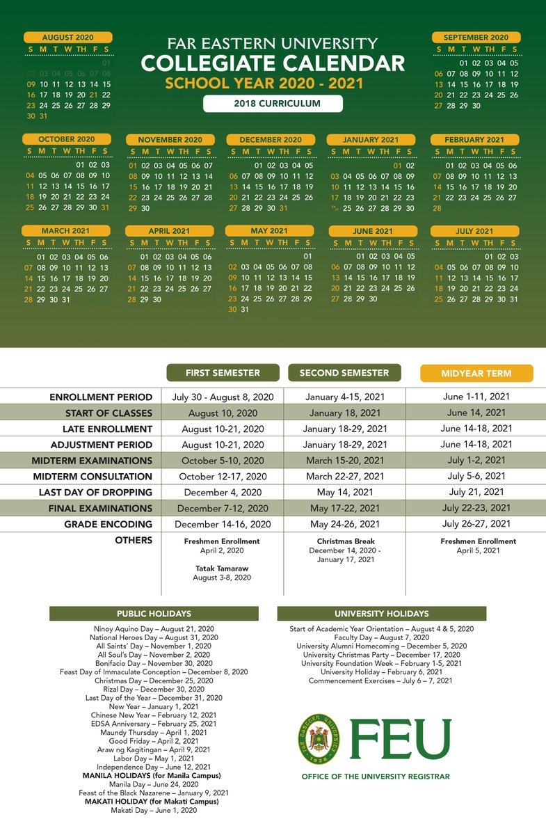 #TamsTakeNote of the approved calendars for School Year 2020 - 2021, as released by the Office of the University Registrar.   Thank you and stay safe! <br>http://pic.twitter.com/8d1TQ5dXCc