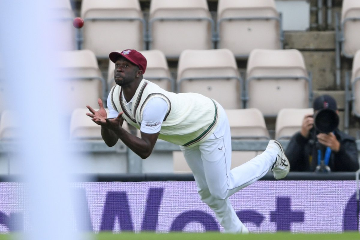 Ben Stokes dropped twice, by Kemar Roach and Shamarh Brooks   Will he make West Indies pay?   http:// es.pn/EngWI-1     | #ENGvWI<br>http://pic.twitter.com/eJgYZGPQoV