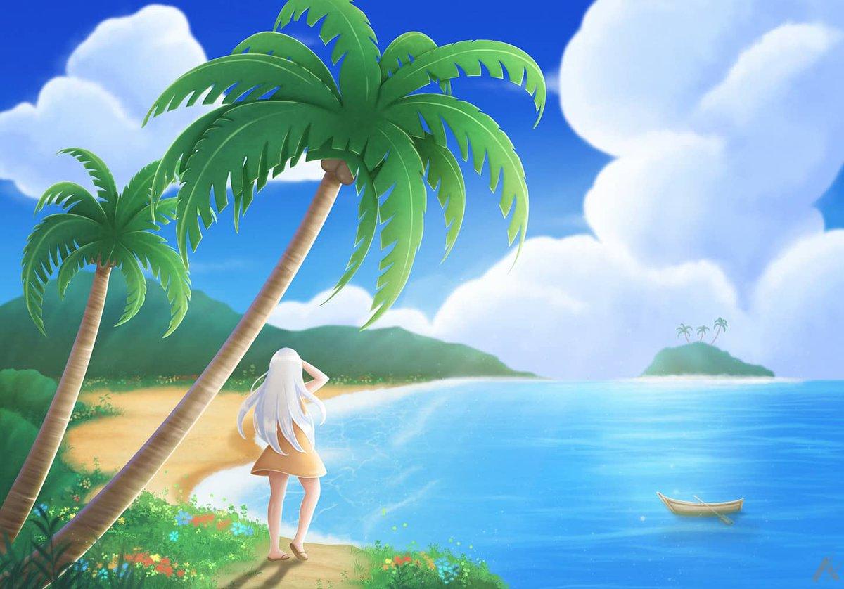 Getting summer vibes! #redraw #redrawchallenge #oil #oilpainting #art #artistoninstagram #anime #manga #artist #digitalart #digitaldrawing #painting #drawing #animeart #digitaartwork #artwork #digitalartist #illustration #procreate #beach #cloud