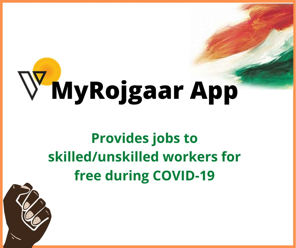 Download #MyRojgaarApp - India's First Mobile Platform for #migrantworker which connect them with businesses offering a job. Register now:  http://shorturl.at/hqrs6 #Rojgaar #JobsIndia #JobSearch #Covid19 #naukri #labour #madeinindia #atmanirbharbharat #migrantlabour #MSMEpic.twitter.com/jTHRMEBv1j