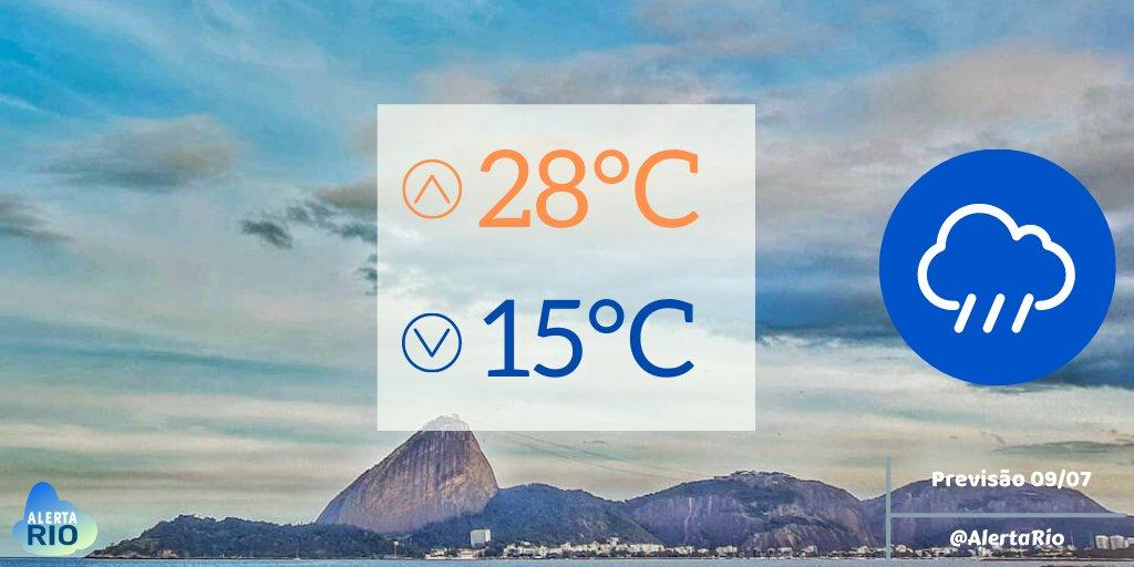 🌧️TEMPO HOJE | A chegada de uma frente fria mudará o tempo no #RiodeJaneiro , nesta quinta. Aumento gradual de nebulosidade, com previsão de chuva fraca/moderada isolada à tarde. Os ventos estarão moderados,  com ocasionais rajadas fortes. Máxima de 28°C. https://t.co/6YJPEmcCrD https://t.co/SgpvrzqyFd