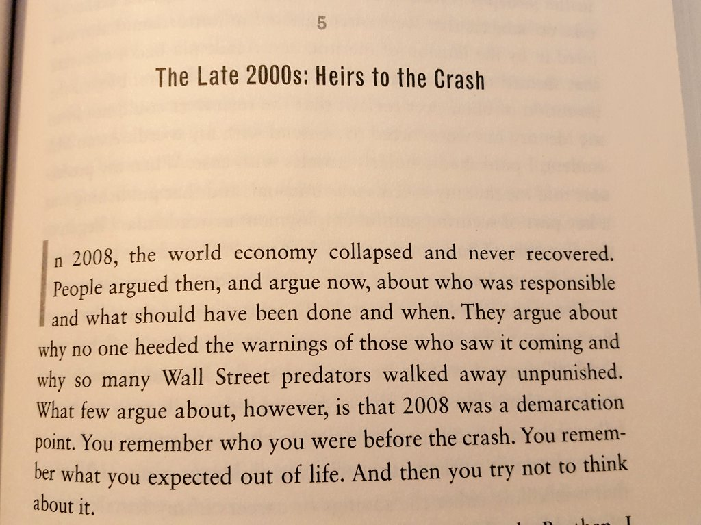 """""""You remember who you were before the crash. You remember what you expected out of life. And then you try not to think about it."""" -- From HIDING IN PLAIN SIGHT on the 2008 collapse, but applies to the coronavirus era too."""