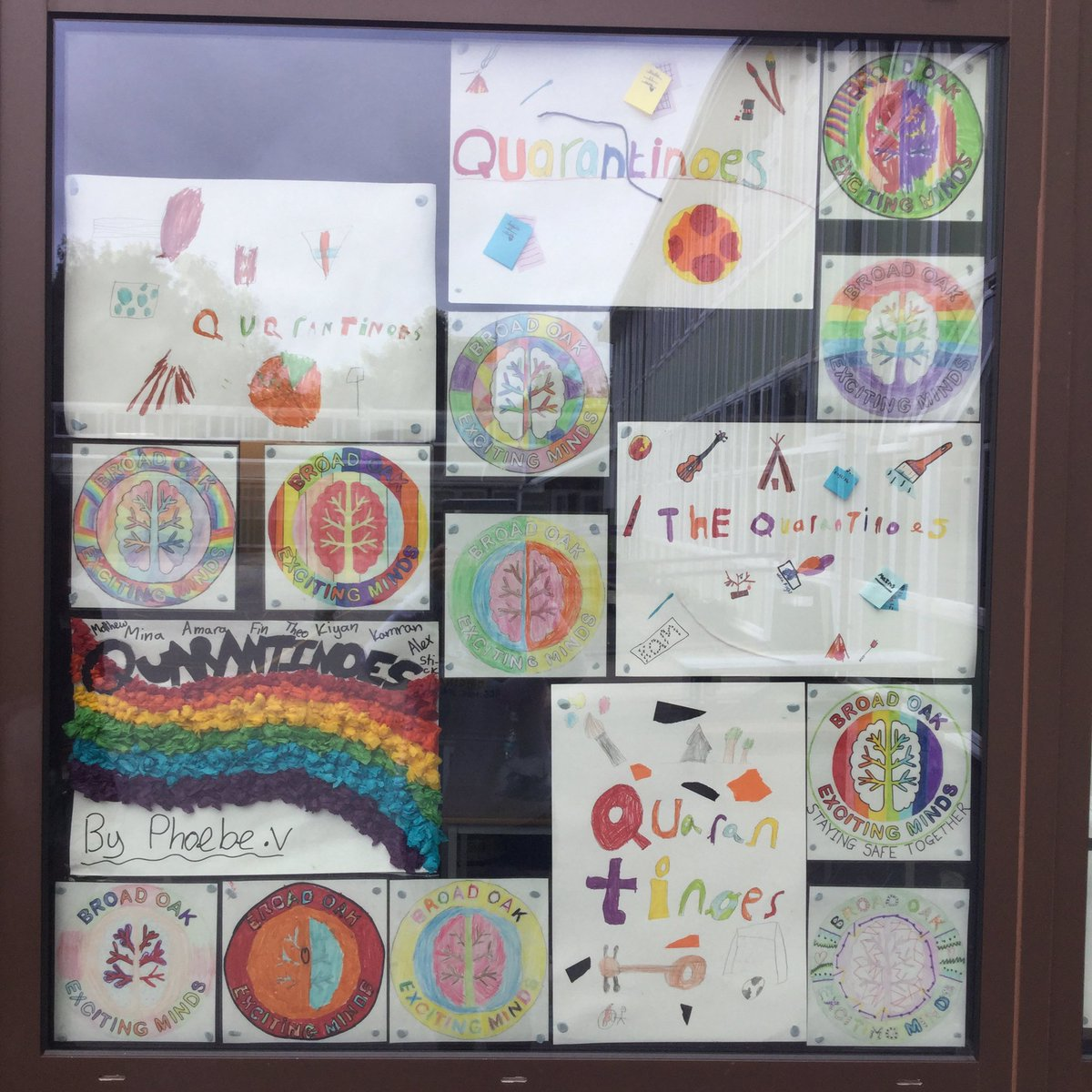 "The KS2 bubble or ""The Quarantinoes"" have been creating some colourful Broad Oak badges and bubble name signs. Time flies when you're having so much fun pic.twitter.com/6ze9vnCKRb"