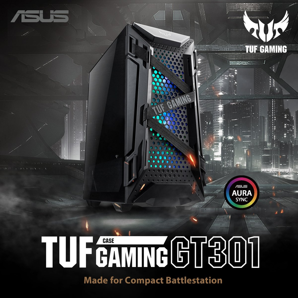 A new compact battle carrier is ready for deployment!  The all-new TUF Gaming GT301 the perfect chassis to complete your new gaming system. 🆕 Optimized for cooling and compatibility, it doesn't compromise on your needed features.  Available in stores this July 2020. https://t.co/1YkibWNm6L