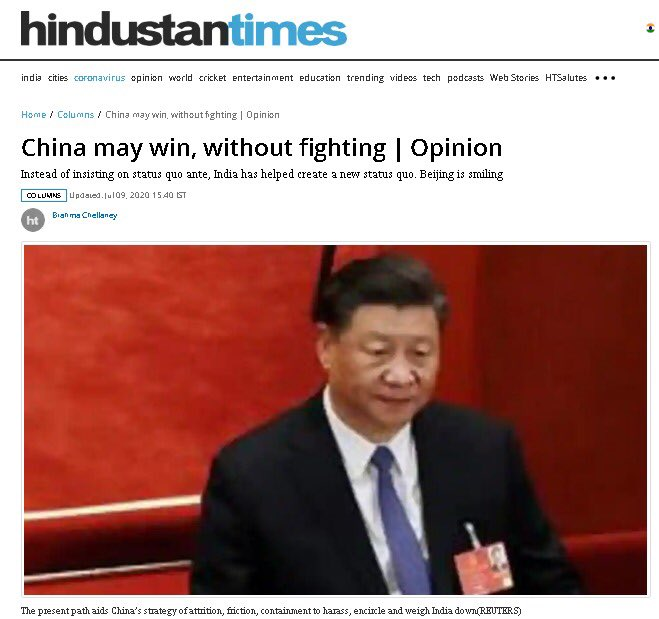 #China is winning and #India is losing badly. #HindustanTimes. World is laughing at #India Serious shenanigans for #IndianGovt #Indianpeople #Indianmedia . #CNN #FT #Forbes #WSJ #NBC #Khaleejtimes #NYT #Gulfnews #GCC #Dubai #Qatar #CBS #BBC @zlj517 @shaunrein #IndiaToday #NDTV https://t.co/pHvMtfR7L3