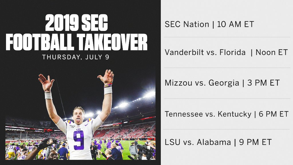 Who's ready for more SEC 🏈? https://t.co/cTdosy4OPl