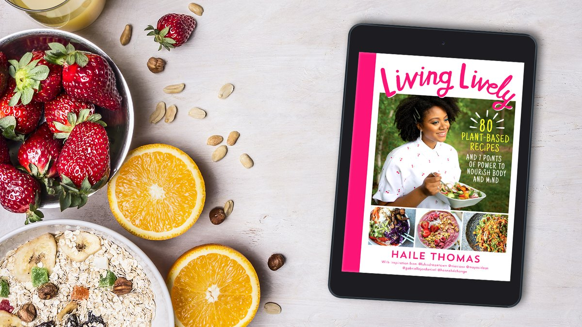 This is more than a cookbook; this is #LivingLively.  Alongside 80 plant-based recipes and @hailevthomas's '7 points of power' manifesto, discover inspiration from other young activists and advocates including @hannah4change, @mayasideas and @NiaSioux.  https://t.co/WvnFlhobsQ https://t.co/IXN4cizWPk