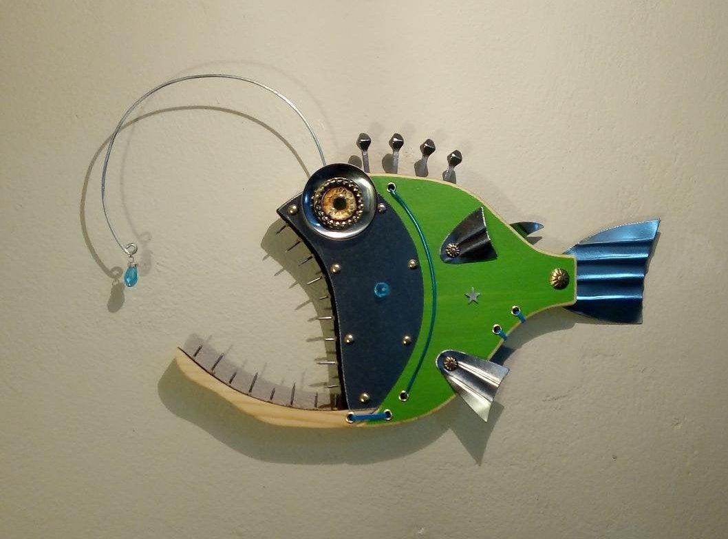 https://t.co/WM3lDKv0wZ   *** Excited to share the latest addition to my etsy shop: #FishSculpture #FishWallArt #BassFish #Steampunkfish #BeachDecor #BeachHouseDecor #greatwhiteshark #fishermangift  #Fishart  #fishing #hotrod   #barracudafish #anglerfish #woodfish https://t.co/PKnefVUUI6