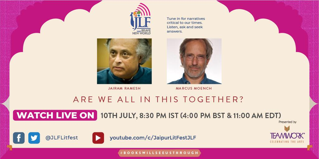 On #JLFBraveNewWorld, economist, politician & environmentalist @Jairam_Ramesh & climate, water and environmental expert @MarcusMoench  discuss how to address the disproportionate impact of climate change on the poor. @PenguinIndia @ISETInt @SimonSchusterIN @PacificInstitut https://t.co/jeF0BWR14p