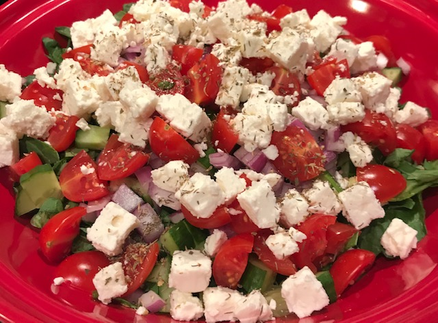 A lovely salad -  @joshealthykitch #salad #summerfood #vegetarian  #delicious #glutenfree #dairyfree #HealthyEating #healthyfood #celiac #coeliac
