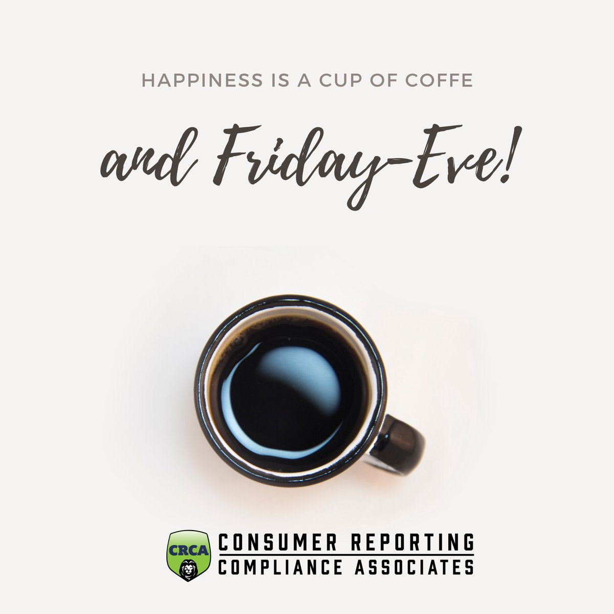 Friday-Eve and Coffee makes for a happy heart!  . . #hr #hrmeme #humanresources #coffee #coffeebreak #fridayeve #crcapic.twitter.com/jCebbqZh4o