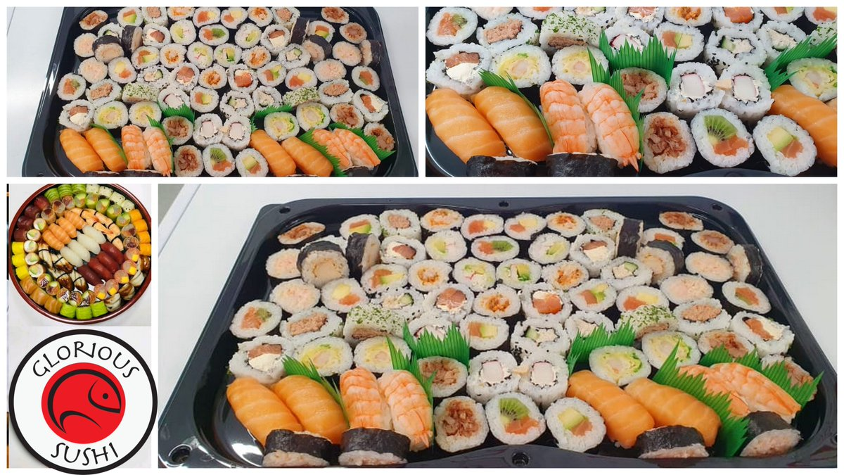 Platters made and ready for collection 👏👏👏 #sushi #platters  #readytogo