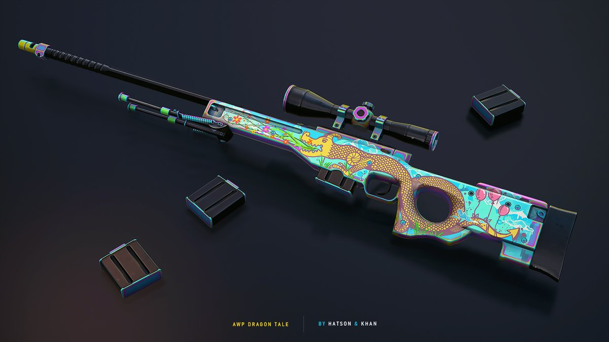 "Rivalry on Twitter: ""Kid's version of Dragon Lore - based on overpass  graffiti 🔥 👍 or 👎… """