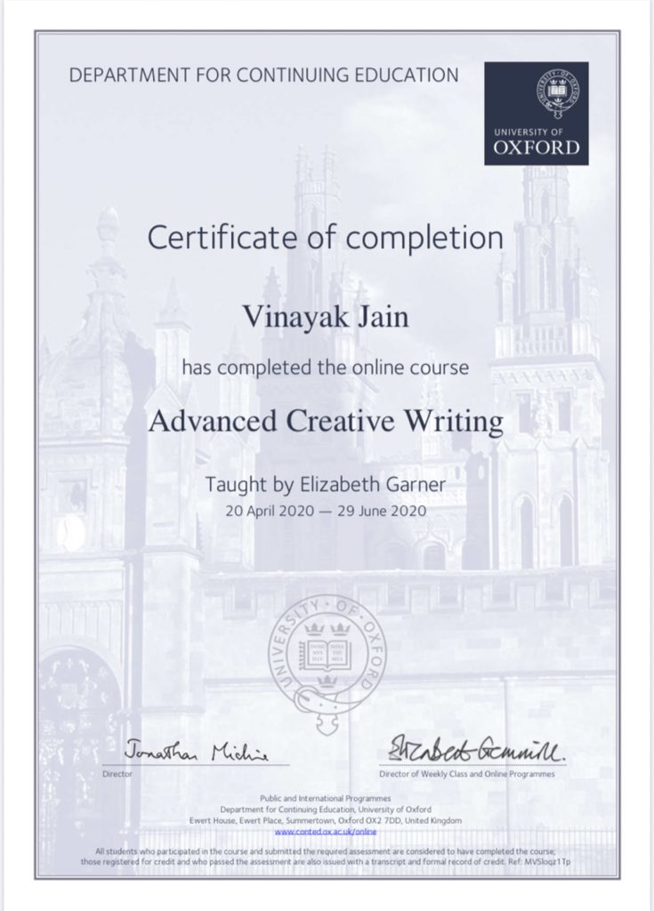 Oxford creative writing literary argumentative essay