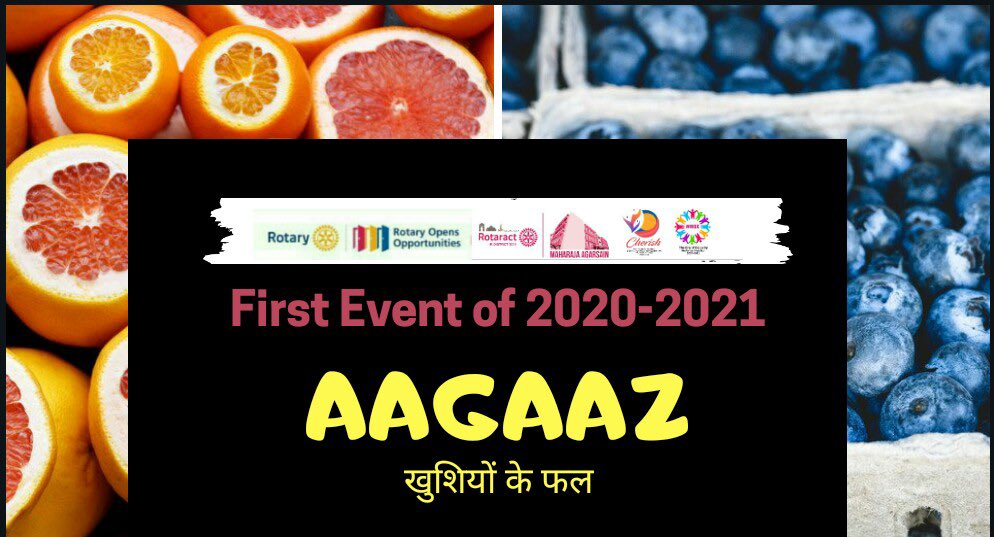Rotaract Club of Mahaaraja Agrsain organized it's first even of the tenure- *Aagaaz* : khushion ke phal- A first donation drive🌺  #rid3011 #rise #cherished #teamRaCMA #theeraofequality  @Shekhar_Rotary @Rotary https://t.co/qASsVUta2N
