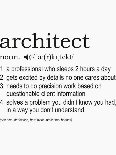 I believe most of the Architects will agree with this #Architect pic.twitter.com/gywor3gRrF