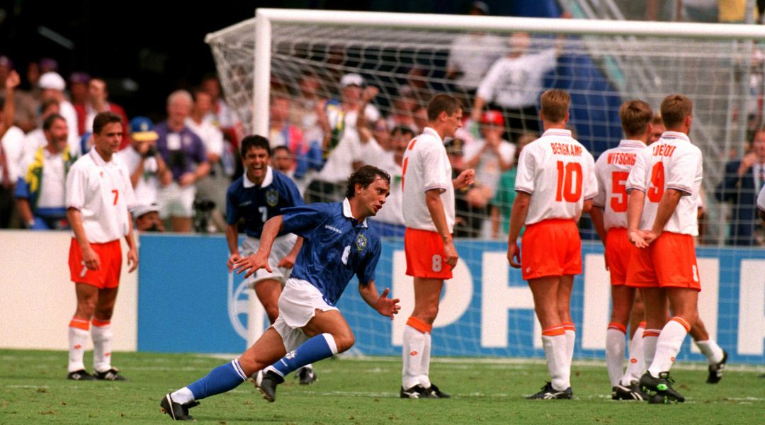 ... free kick into the far corner, but he was only playing that day as a replacement for #Leonardo, who was suspended because of an earlier red card against the United States. Brazil won 3-2. <br>http://pic.twitter.com/di00ViEBWs