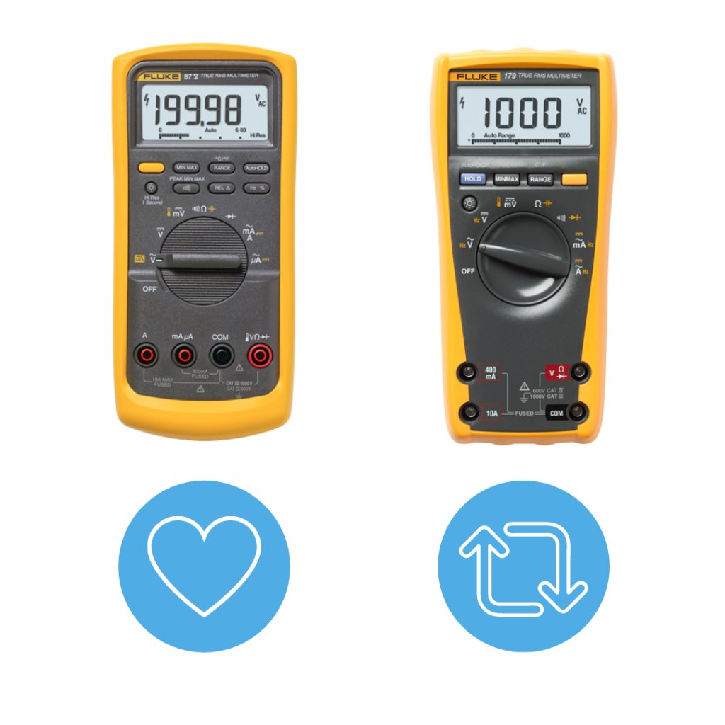 Let's settle this debate...   What's your choice for top Fluke meter?  LIKE for the 87V  RETWEET for the 179 https://t.co/3ZdEK0oi88