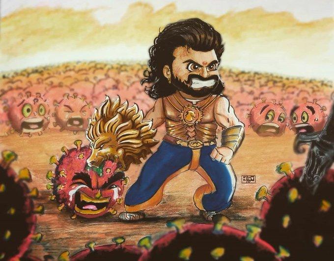 Fight with corona like bahubali And stay home stay safe #Prabhas #5YearsForBaahubaliRoar<br>http://pic.twitter.com/WEUIDCY3we