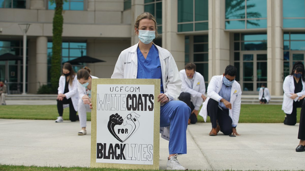 @ourmedschool students organized a White Coats for Black Lives event and it was attended by many, including community physicians and medical school staff and faculty. Read more here: https://t.co/5x7kHXi90M @UCFHealth https://t.co/COIchplLVW