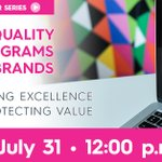 Image for the Tweet beginning: **Next BrandQ® Webinar **  July