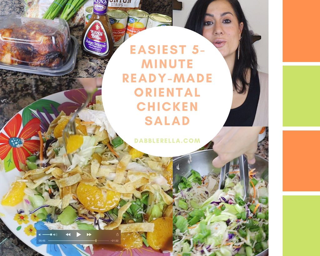 Today I'm sharing one of my top requested & favorite #salad recipes, & I'm sharing it in the easiest way possible, using all #readymade ingredients!   • Click here:  • #EasySalad #OrientalChickenSalad #ReadyMadeMeals #vegetarian #FiveMinuteMeals #Homemade