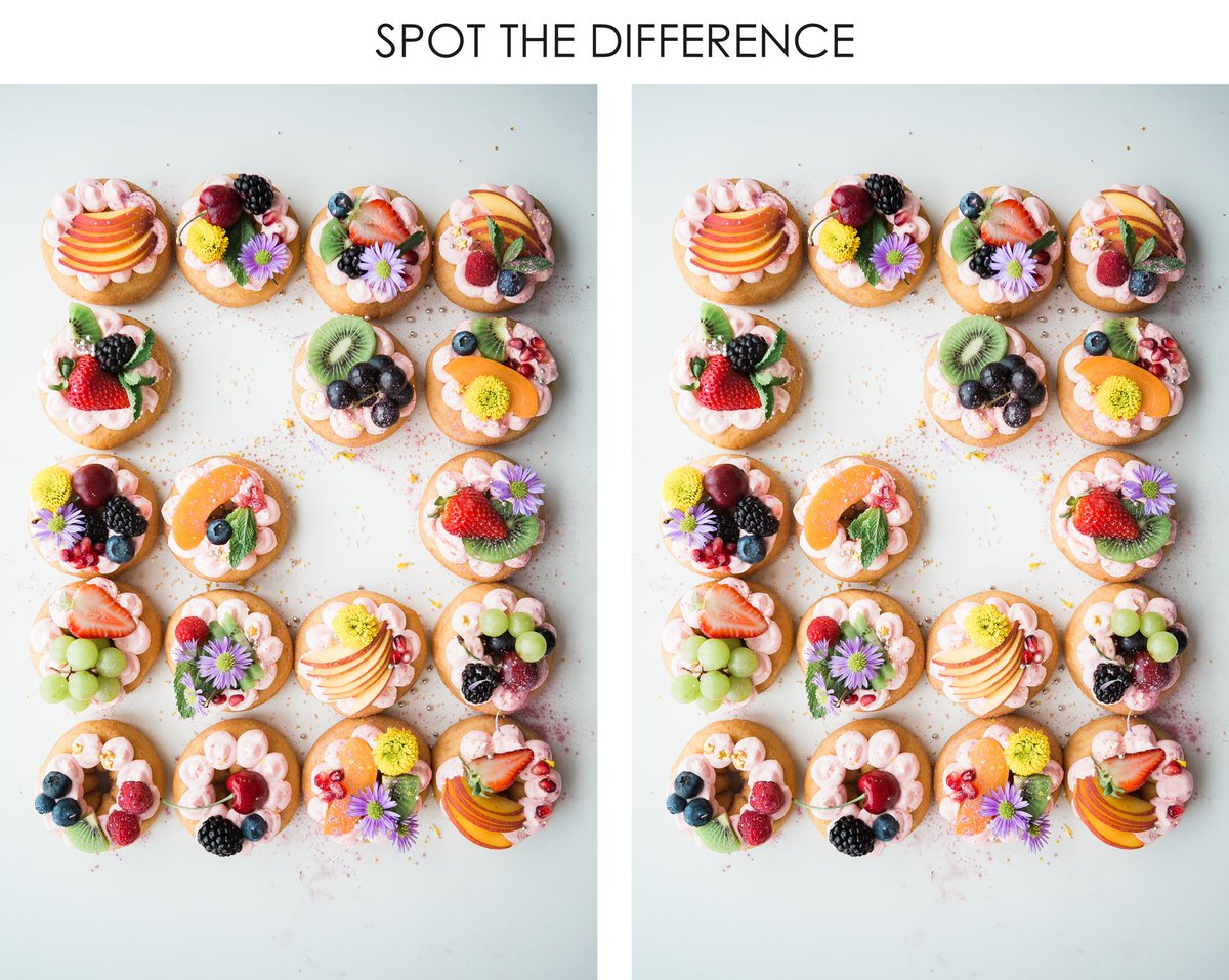 Can you spot the difference between two food images?  #foodpic #foodnetizens #game #playgames #foodies #foodlover #foodfun #foodblogger #thursday #thursdaynight #thursdaymood #food #foodiesofinstagrampic.twitter.com/qBdeVsOp53